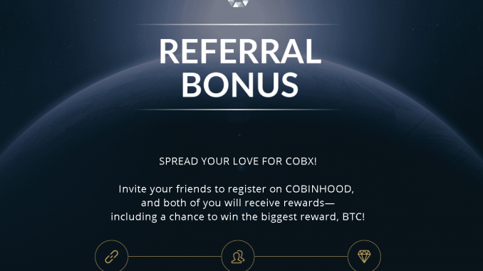 Invite your friends to register on Cobinhood